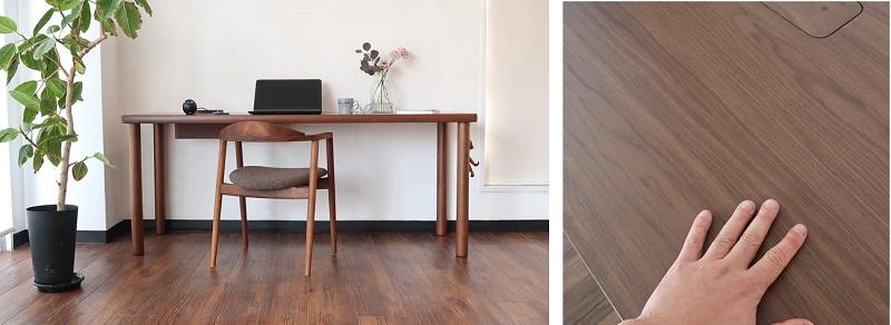 ウォールナット材 木目の雰囲気、イメージ写真。シンプルなデザインでリビングにもお勧めです。
